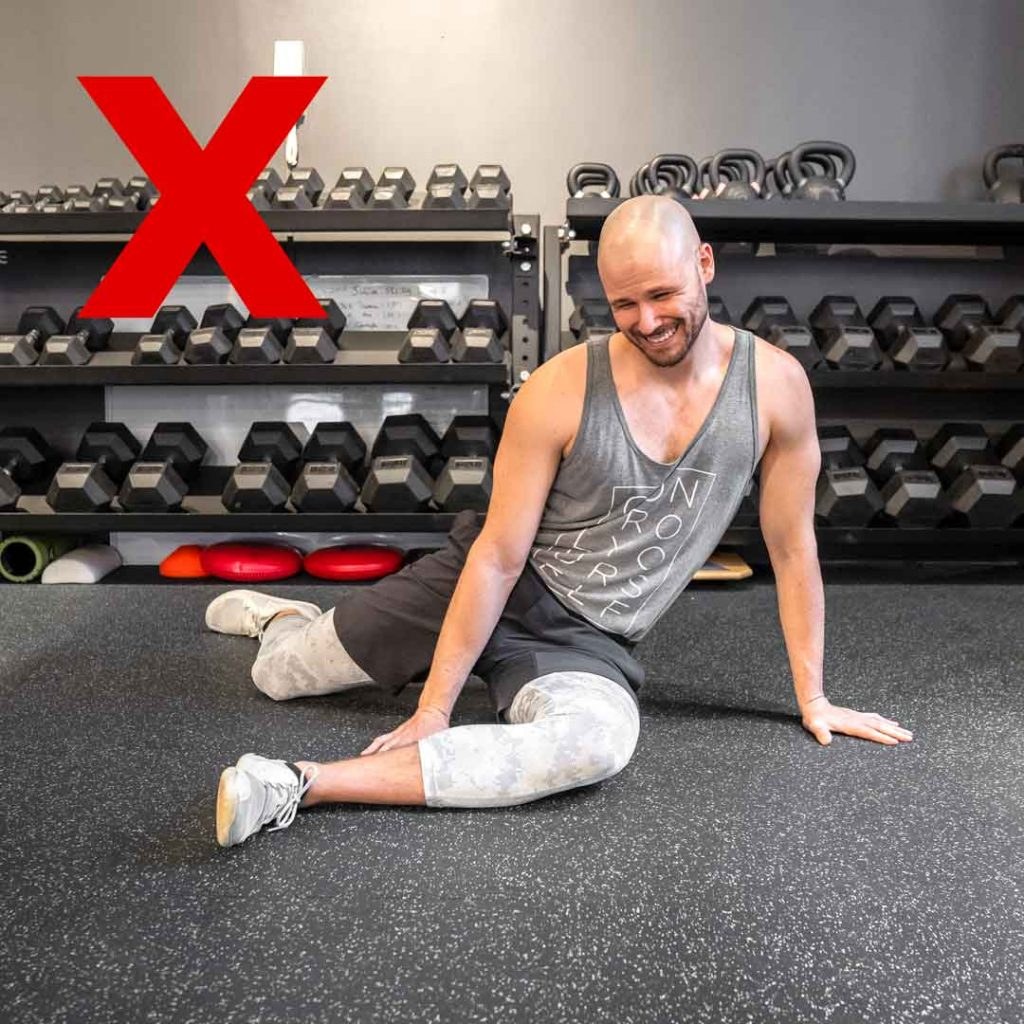 Don't Force 9090 Hip Stretch