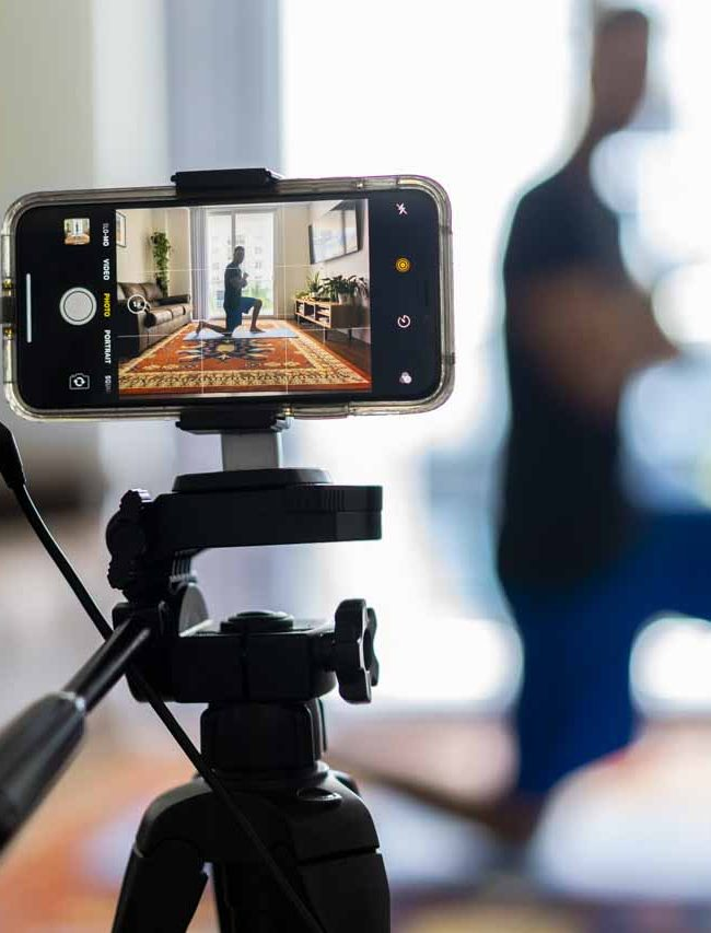 equipment to use filming fitness classes with your phone